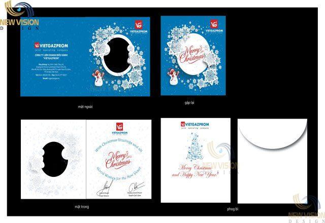 Thiệp Giáng sinh đẹp, thiết kế theo yêu cầu