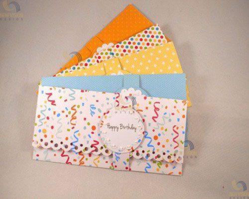 Phong bì chúc mừng sinh nhật màu sắc