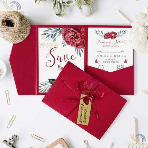 Phong bì mời cưới mang cả nét truyền thống và hiện đại