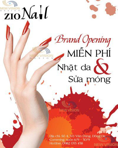 Thiết kế Poster độc đáo cho tiệm nail