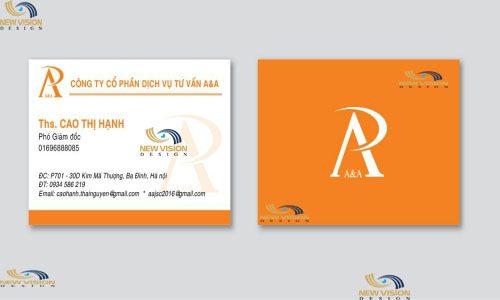 Thiết kế name card đơn giản, đầy đủ thông tin